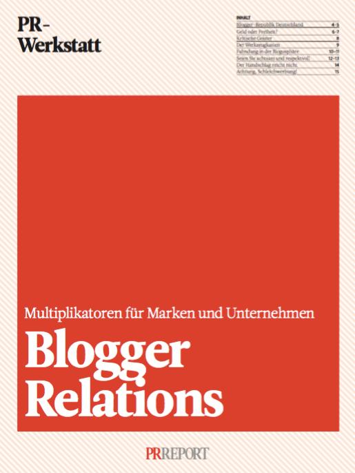 PRReport PR Werkstatt: Blogger Relations